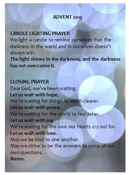 advent prayer