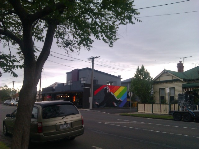 west 48 cafe footscray van graffiti LGBTIQA+ gay marriage plebiscite in Australia christians for marriage equality ally