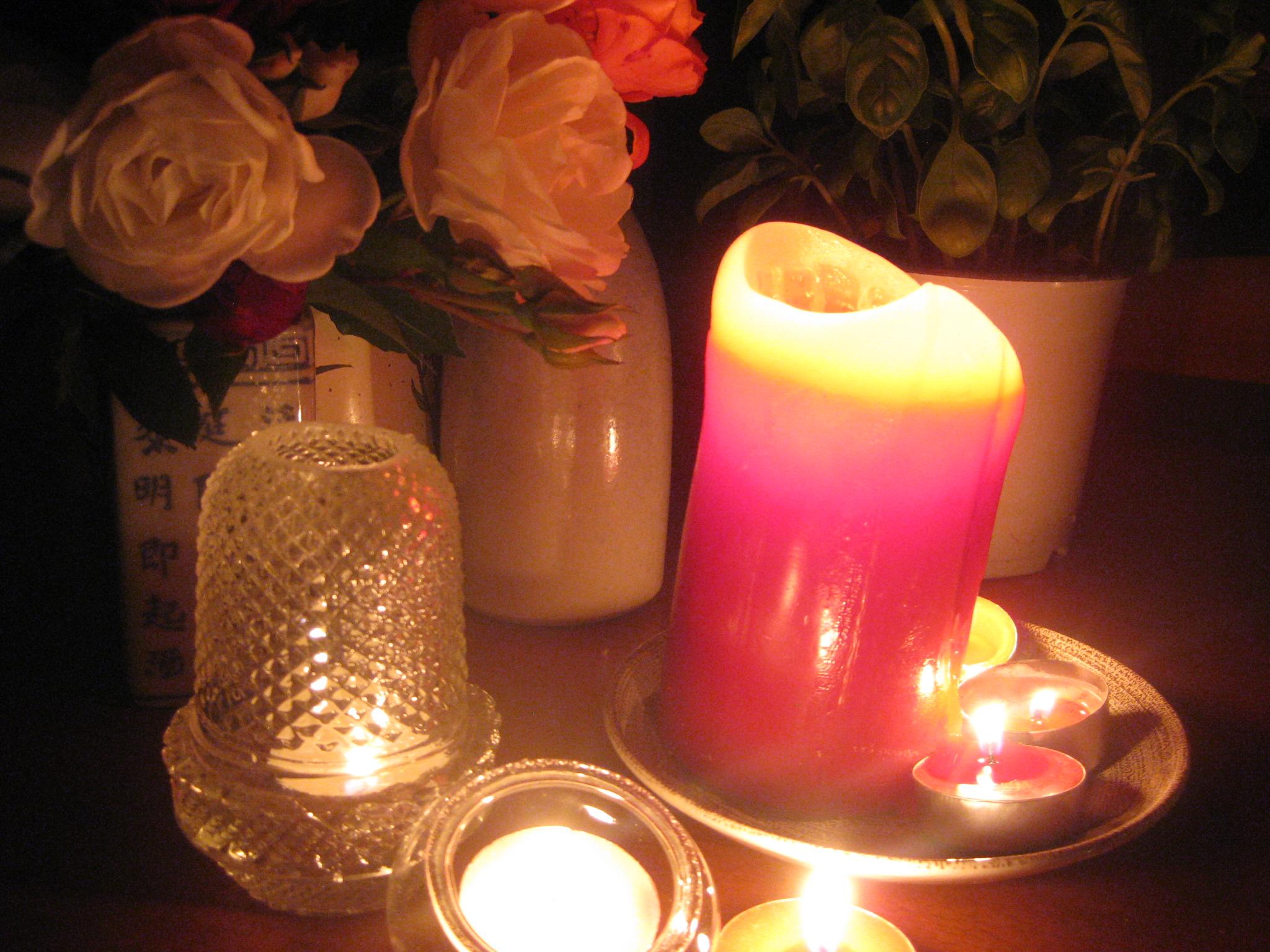 candlelight birthday dinner roses