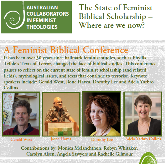 poster australian collaborators in feminist theologies the state of feminist biblical scholarship