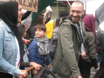 salaam shalom Bakba March 19 May 2018 Melbourne Palestine free Israel conflict non-violent protest reconciliation peace boy calling protest