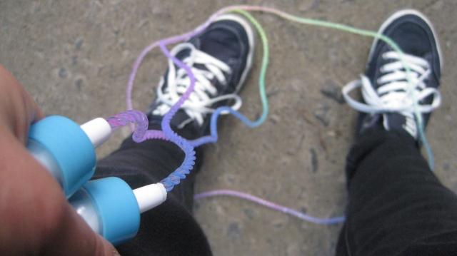 rainbow skipping rope