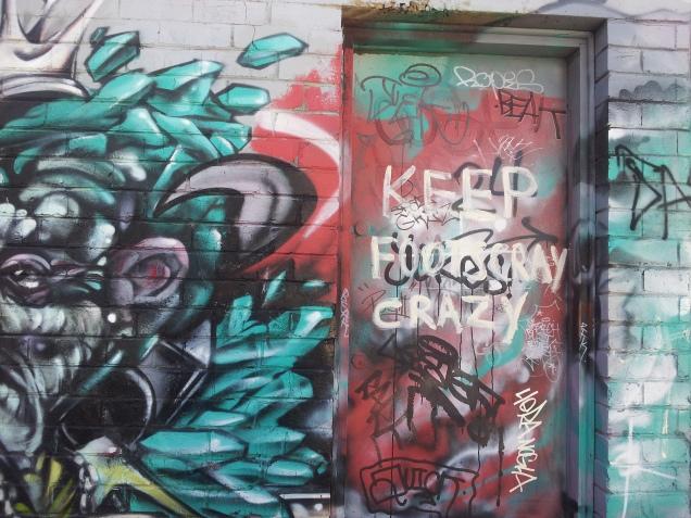 Footscray graffiti keep Footscray crazy writing on the wall