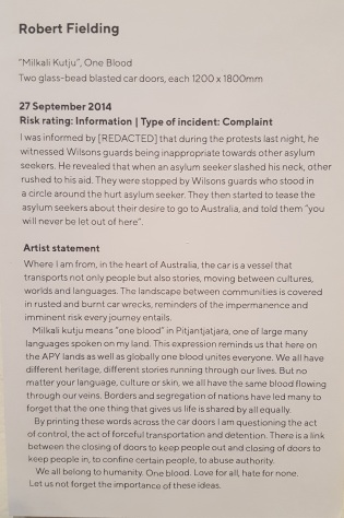 all we don't know exhibition fortyfivedownstairs melbourne August 2018 refugees Nauru files