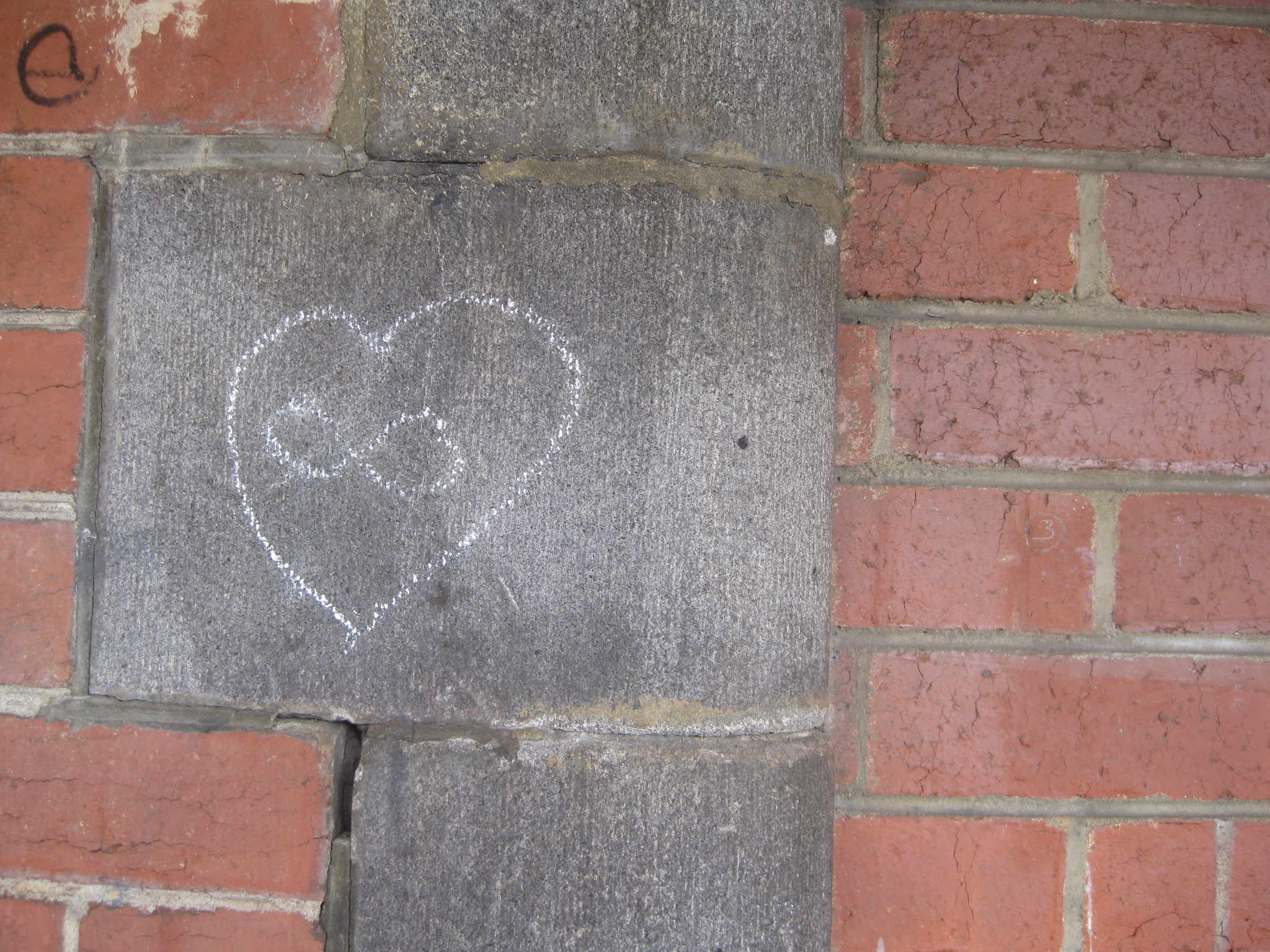 chalk drawing infinity and heart