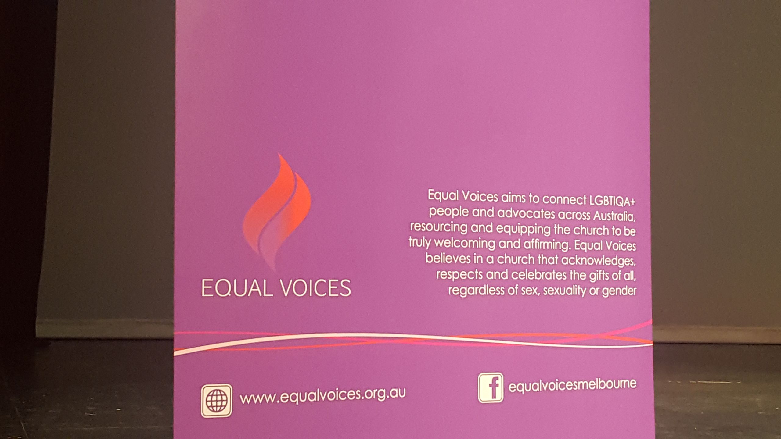 Equal voices Conference Melbourne October 2018 banner