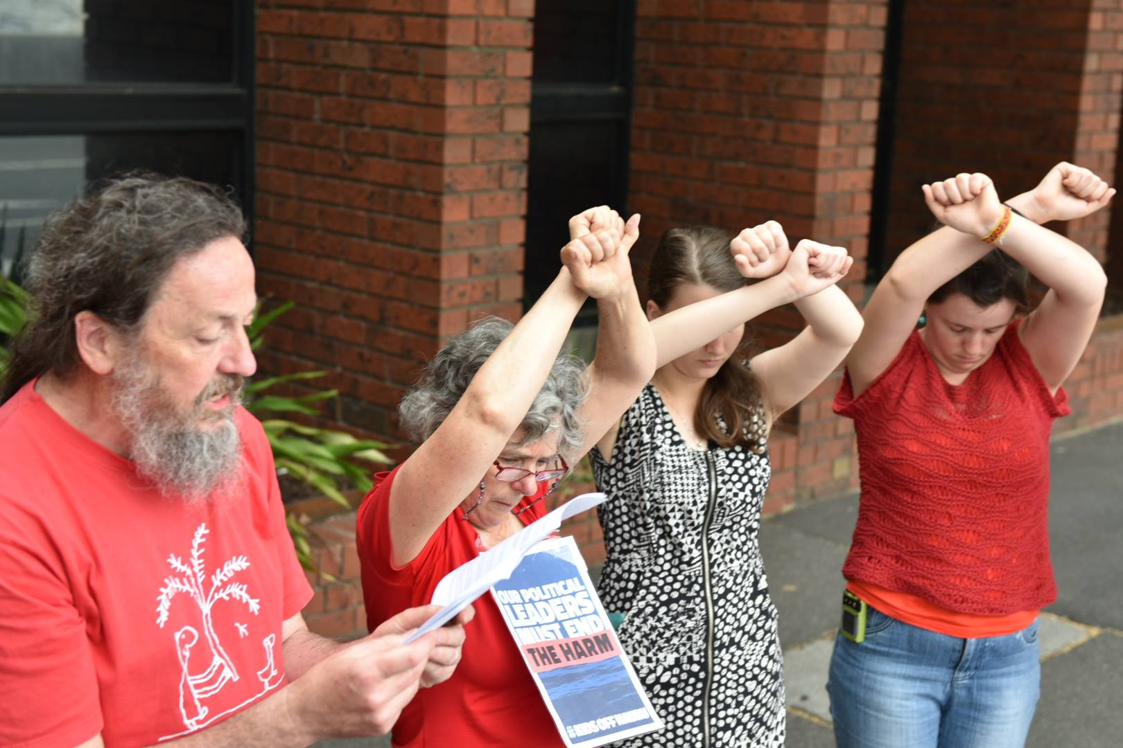 scott ryan's office Aug 2018 refugee Christian sit in moonee ponds love makes a way end child detention #kidsoffnauru #kidsoffalloff  peaceful non-violent resistance