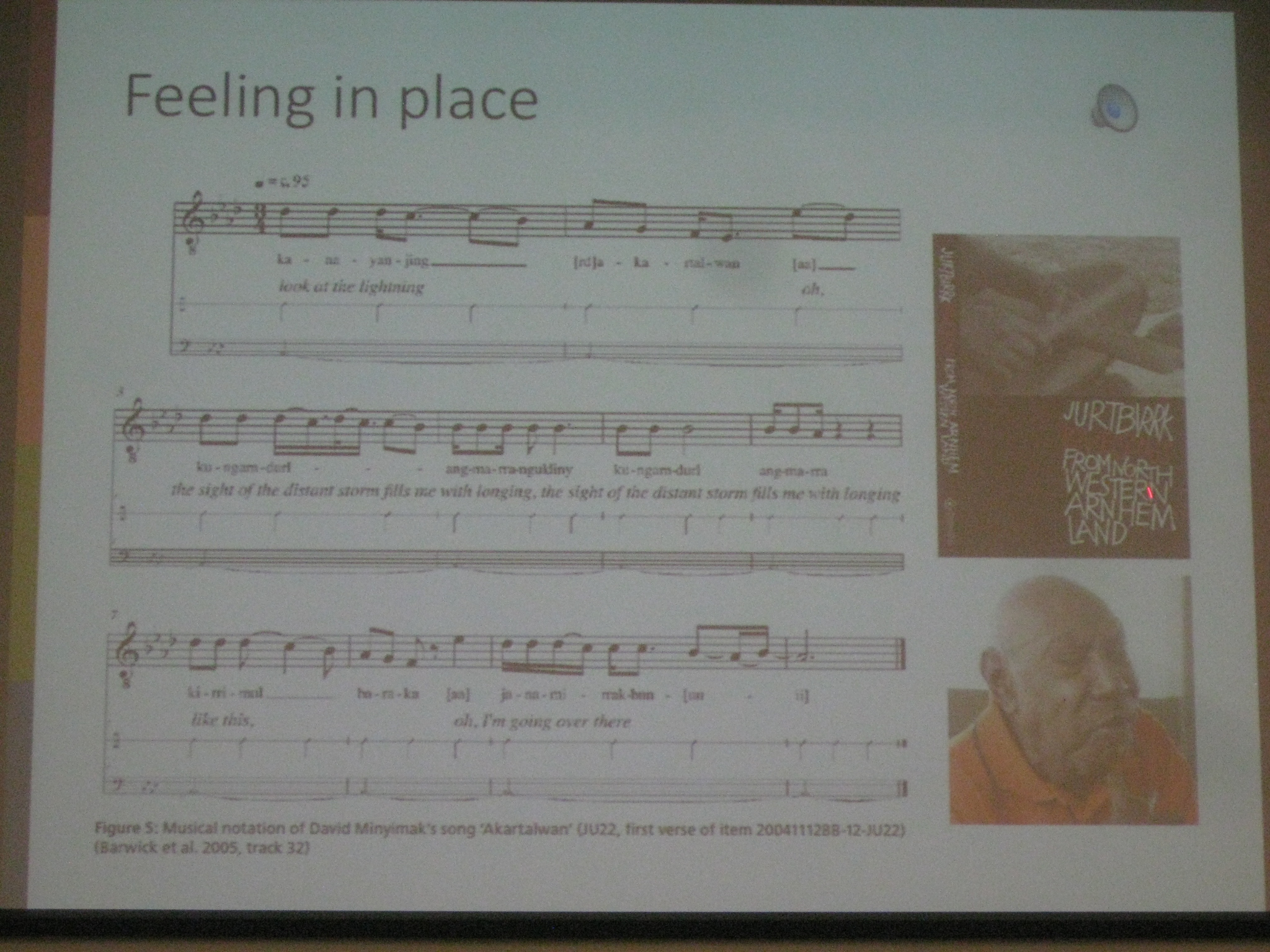 Waving to the other side: language of poetry in indigenous Australian song Nick Evans University of Melbourne 2018 feeling in place