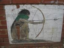 bow and arrow and lizard graffiti Footscray