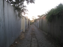twilight walk home footscray graffiti laneways