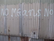 twilight walk home footscray graffiti no means no feminist
