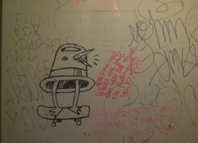 bathroom wall graffiti fitzroy