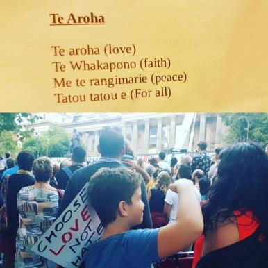 te aroha kiwis and muslim sing together