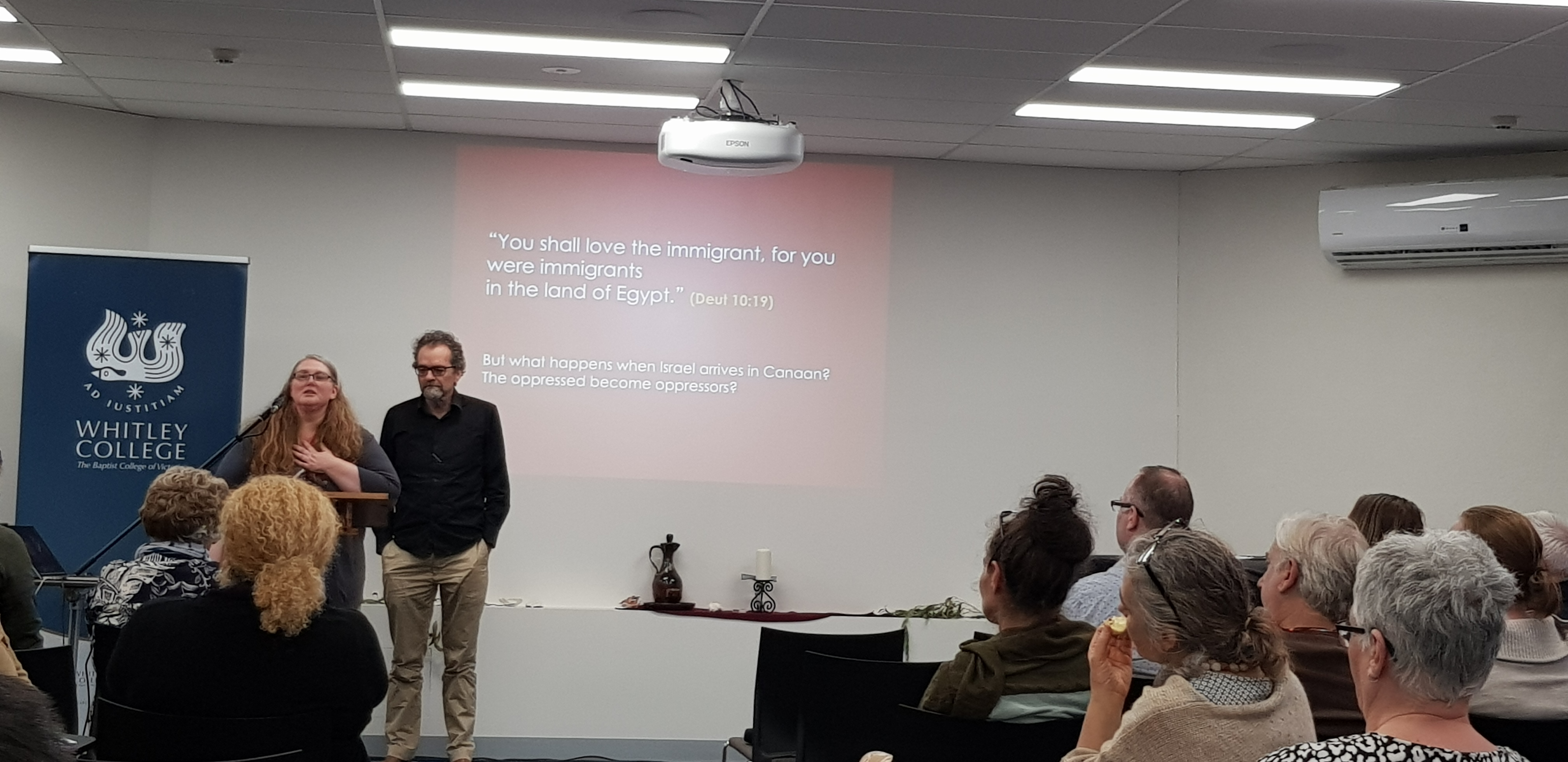 Professor Mark Brett & Naomi Wolfe: 'Traditional Land and the Responsibility to Protect Immigrants: A Dialogue between Aboriginal Tradition and the Hebrew Bible'