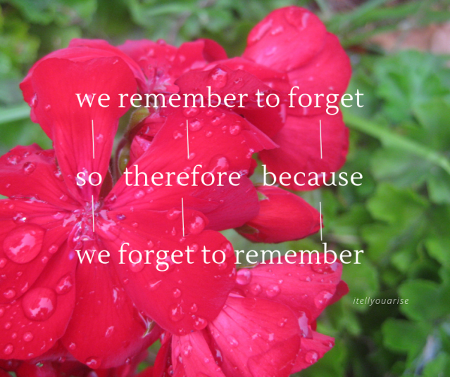 we remember to (1)